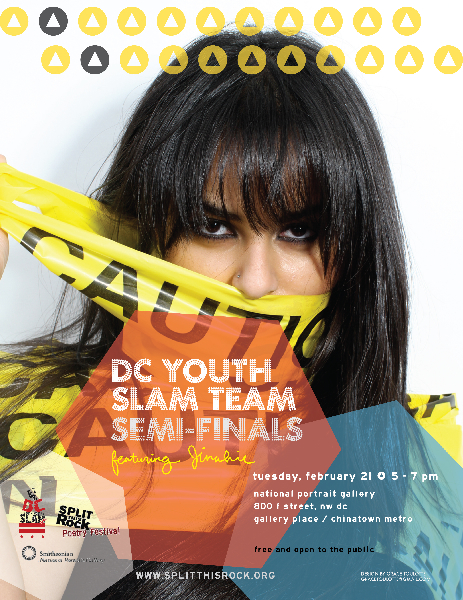 Poster for the 2012 Youth Slam Team Semi-Finals featuring Jinahie 2/21/12
