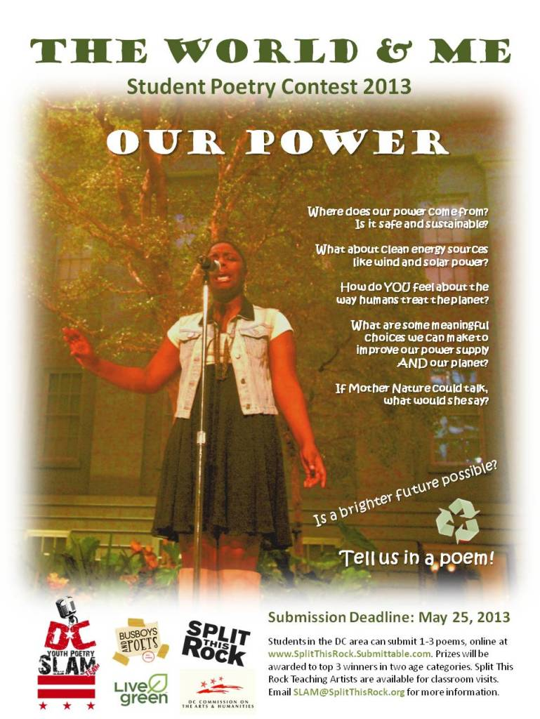 Get your kids to submit to this Youth Poetry Contest! www.SplitThisRock.Submittable.com