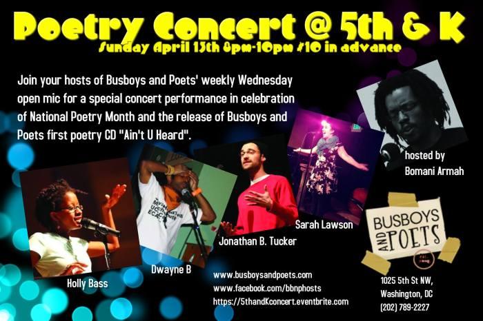 poetry concert flier