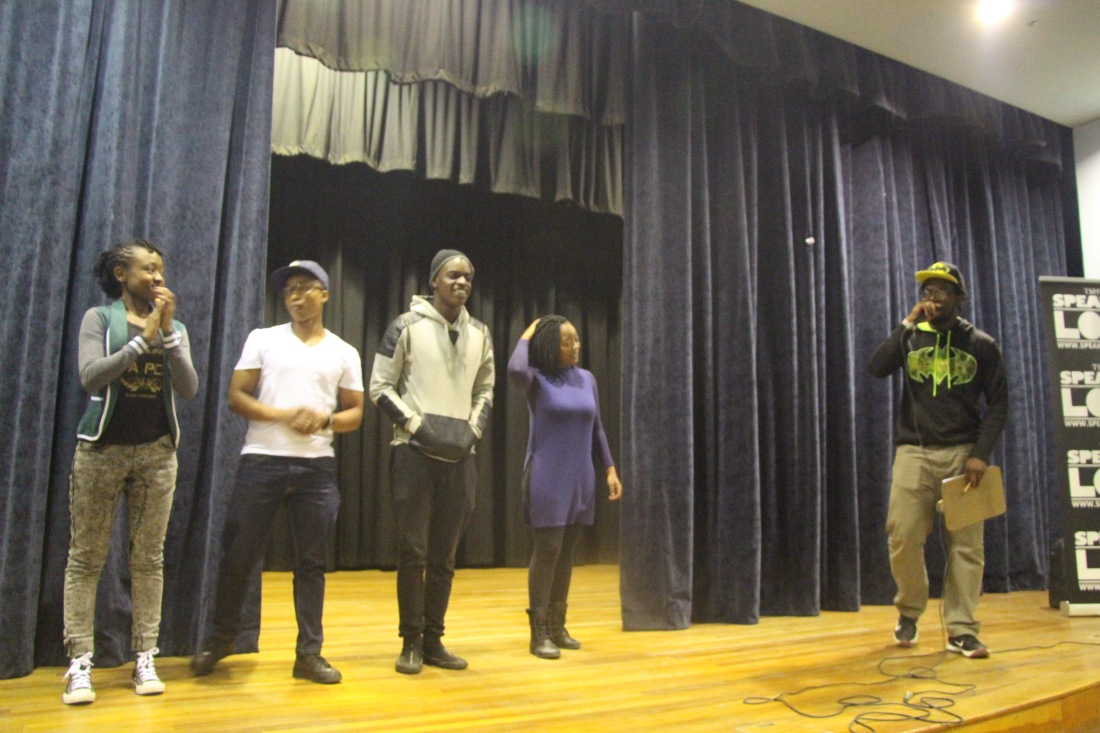B Doug hosting Tshwane Speak Out Loud Youth Poetry Competition