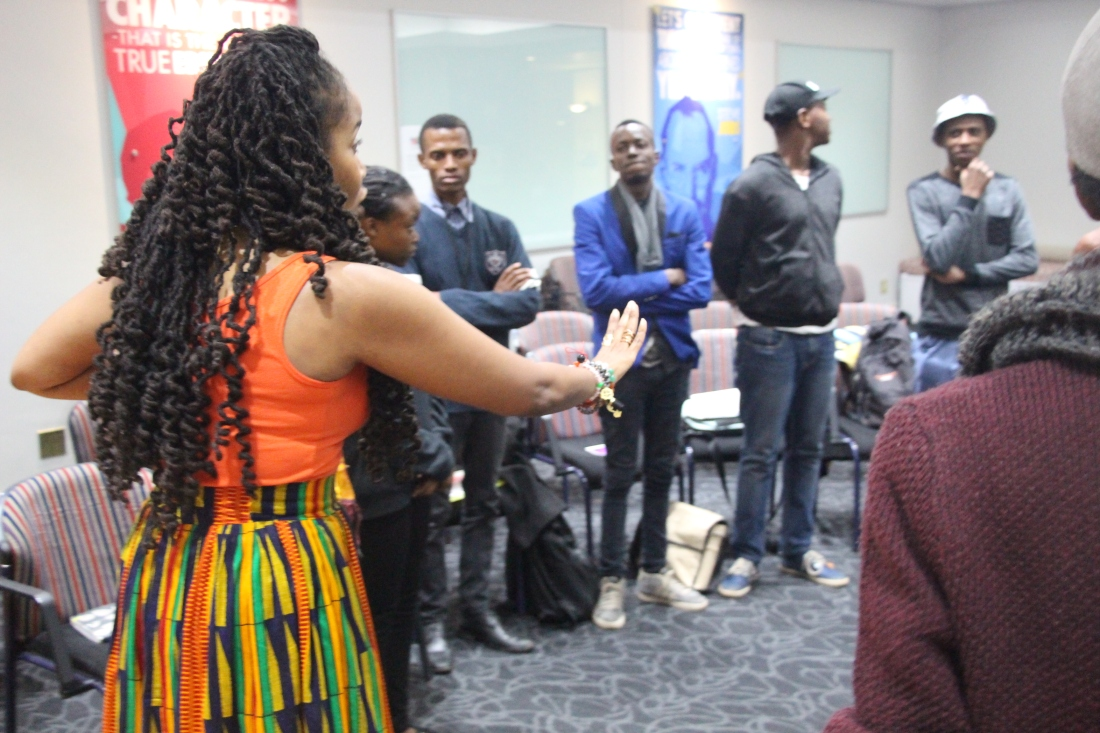 Goldie leading poetry workshop at Tshwane Library