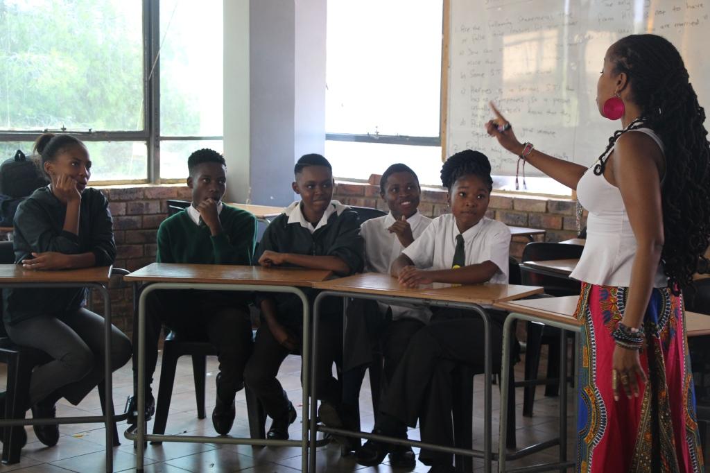 Goldie teaching Greenwood College, Tshwane