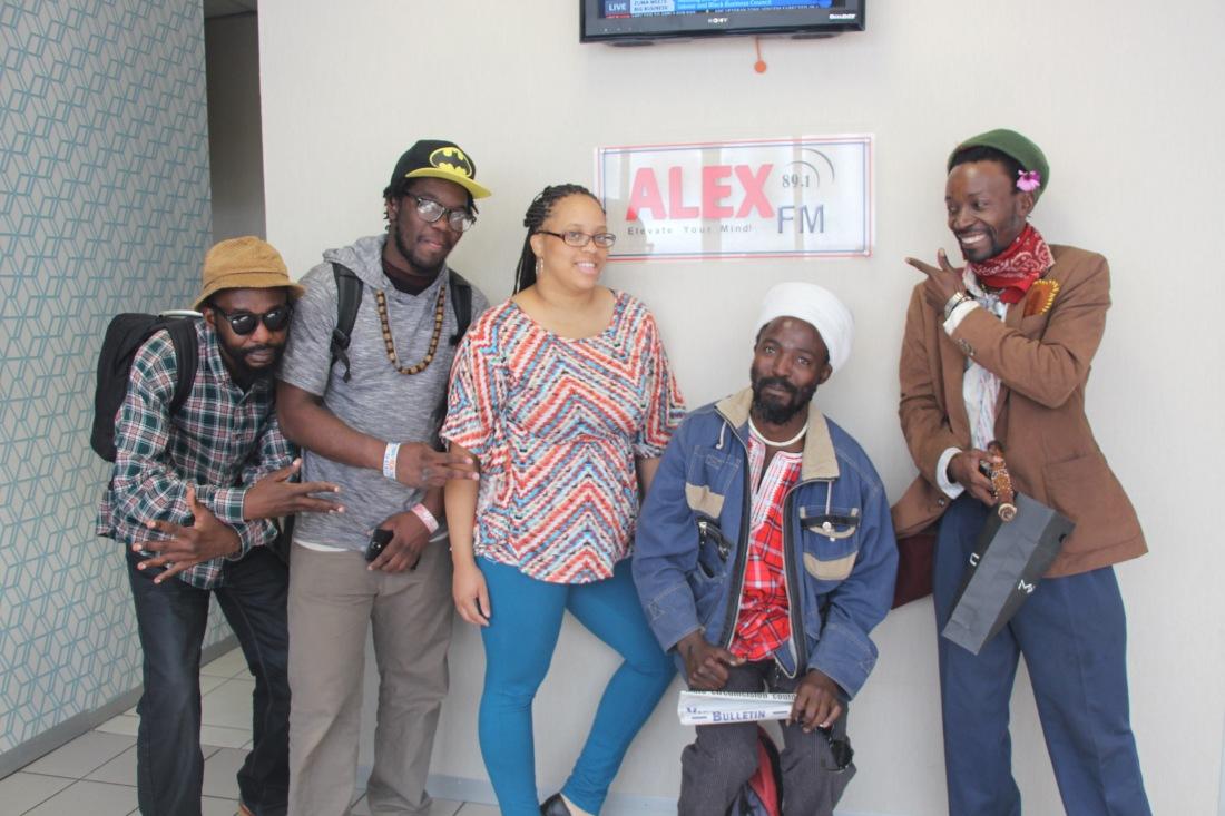 Posing at Alex FM